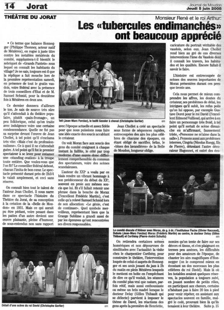 Presse Suisse M.RenÇ et le Roi Arthur 2008 CH.jpg1