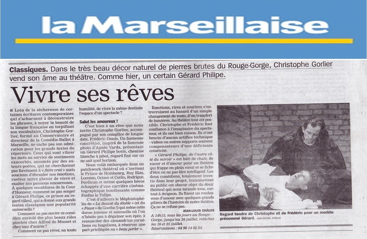 Article la marseillaise du 10 juillet 2014